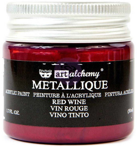 Prima Marketing - Finnabair Art Alchemy Acrylic, Metallique Red Wine