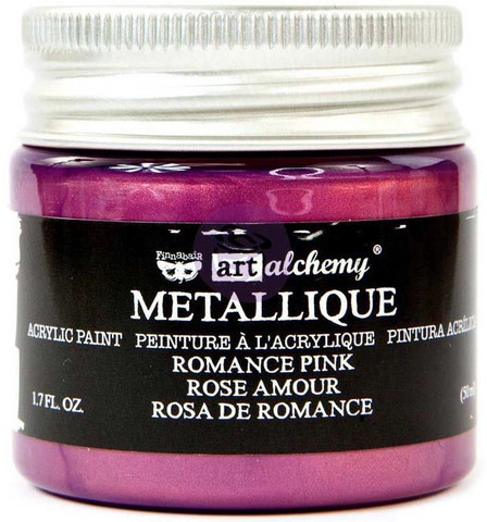 Prima Marketing - Finnabair Art Alchemy Acrylic, Metallique Romance Pink