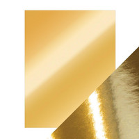 Tonic - Peilikartonki, Polished Gold, High Gloss, A4, 5 arkkia