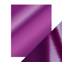 Tonic - Peilikartonki, Electric Purple, High Gloss, A4, 5 arkkia