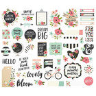 Simple Stories - Bloom Bits & Pieces Die-Cuts, 47 kpl