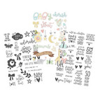 Simple Stories - Carpe Diem Oh Baby! Clear Stickers, Tarrasetti, 3 arkkia