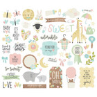 Simple Stories - Oh Baby! Bits & Pieces Die-Cuts, 52 kpl
