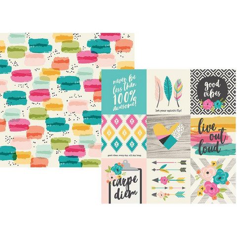 Simple Stories - Good Vibes Double-Sided Cardstock 12