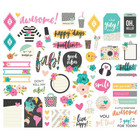 Simple Stories - Good Vibes Bits & Pieces Die-Cuts, 55 kpl