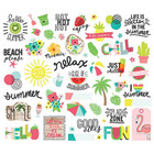 Simple Stories - Hello Summer Bits & Pieces Die-Cuts, 52kpl