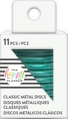 MAMBI - Happy Planner Metal Discs, Teal, 1,25