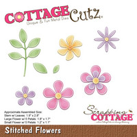 Cottage Cutz - Stitched Flowers, Stanssi