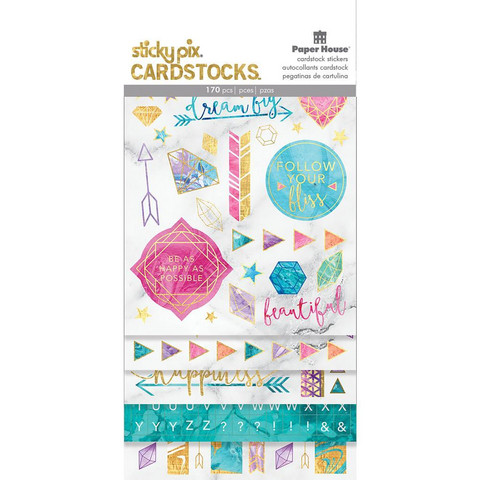 Paper House - Cardstock Stickers, Marbleous, Tarrasetti