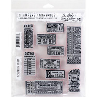 Tim Holtz - Cling Stamps, Ticket Booth, Leimasetti