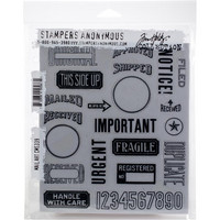 Tim Holtz - Cling Stamps, Mail Art, Leimasetti
