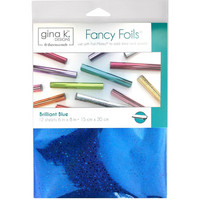 Deco Foil - Gina K Designs, Brilliant Blue Holographic (T), 12 arkkia