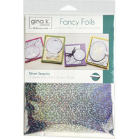 Deco Foil - Gina K Designs, Silver Sequins (T), 12 arkkia