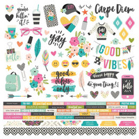 Simple Stories - Good Vibes Cardstock Stickers 12