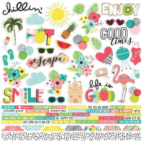 Simple Stories - Hello Summer Cardstock Stickers 12