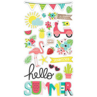 Simple Stories - Hello Summer Chipboard Stickers 6