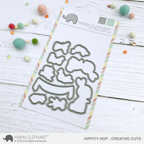Mama Elephant - Hippity Hop, Creative Cuts, Stanssisetti