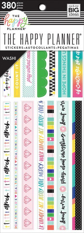 MAMBI - Happy Planner, Bible Journaling Washi Book, Tarrasetti, 20arkkia