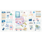 Prima Marketing - Santorini Chipboard Stickers, Foil & Glitter Accents, 3 arkkia