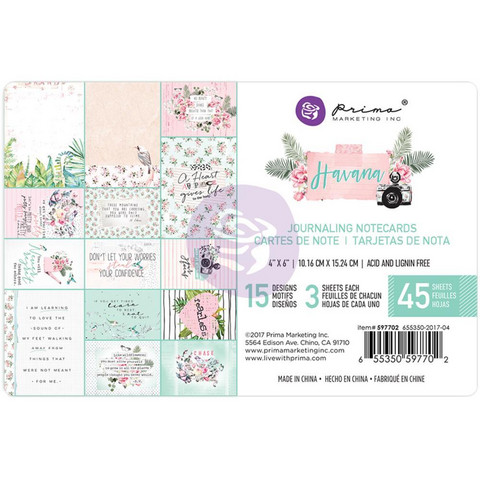 Prima Marketing - Havana Journaling Notecards, 4