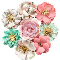 Prima Marketing -  Havana Mulberry Paper Flowers, Blanca