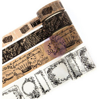 Prima Marketing - Traveler's Journal Vintage Decorative tape, Kraft & White, 4 rullaa