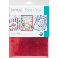 Deco Foil - Gina K Designs, Radiant Red (T), 12 arkkia