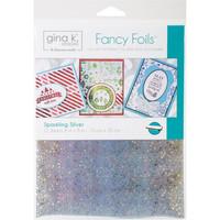 Deco Foil - Gina K Designs, Sparkling Silver (T), 12 arkkia