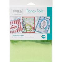 Deco Foil - Gina K Designs, Glittering Green (T), 12 arkkia