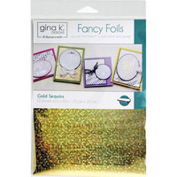 Deco Foil - Gina K Designs, Gold Sequins, 12 arkkia