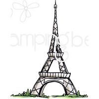 Stamping Bella - Rosie And Bernie's Eiffel Tower, Leima