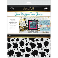Deco Foil - Clear Toner Sheets, Splatter, 8,5