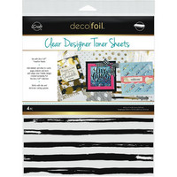 Deco Foil - Clear Toner Sheets, Distressed Lines, 8,5