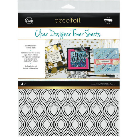 Deco Foil - Clear Toner Sheets, Groovy, 8,5