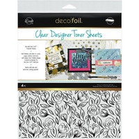Deco Foil - Clear Toner Sheets, Floral Sketch, 8,5