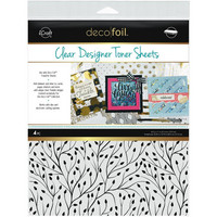 Deco Foil - Clear Toner Sheets, Branching Out, 8,5