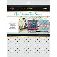 Deco Foil - Clear Toner Sheets, Polka Dots, 8,5
