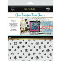 Deco Foil - Clear Toner Sheets, Doodles, 8,5