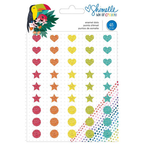 Shimelle - Box Of Crayons Enamel Dots, 45kpl