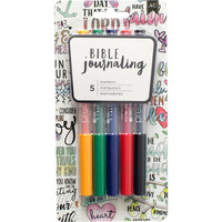 American Crafts - Bible Journaling Precision Pens, Primaries, 5 kpl