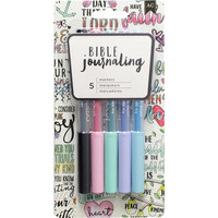 American Crafts - Bible Journaling Precision Pens, Pastels, 5 kpl