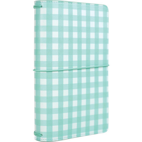 Echo Park - Traveler's Notebook, Teal Gingham