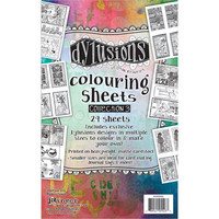 Dyan Reaveley's - Dylusions Coloring Sheets, #3