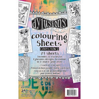 Dyan Reaveley's - Dylusions Coloring Sheets, #2