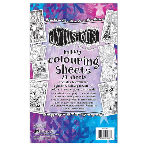 Dyan Reaveley's - Dylusions Coloring Sheets, Holiday
