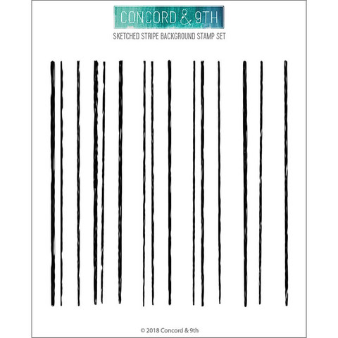 Concord & 9th - Sketched Stripes Background, Leima