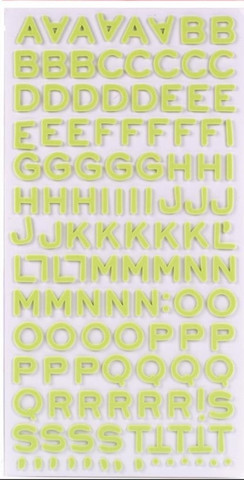 American Crafts - Thickers Foam Stickers, Fantastic Limeade, Tarrasetti