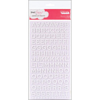 American Crafts - Thickers Foam Stickers, Fantastic White, Tarrasetti