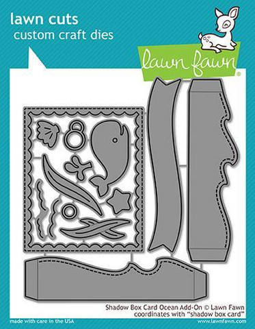 Lawn Fawn - Shadow Box Card Ocean Add-On, Stanssisetti