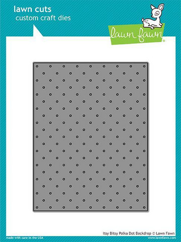 Lawn Fawn - Itsy Bitsy Polka Dot Backdrop, Stanssi
